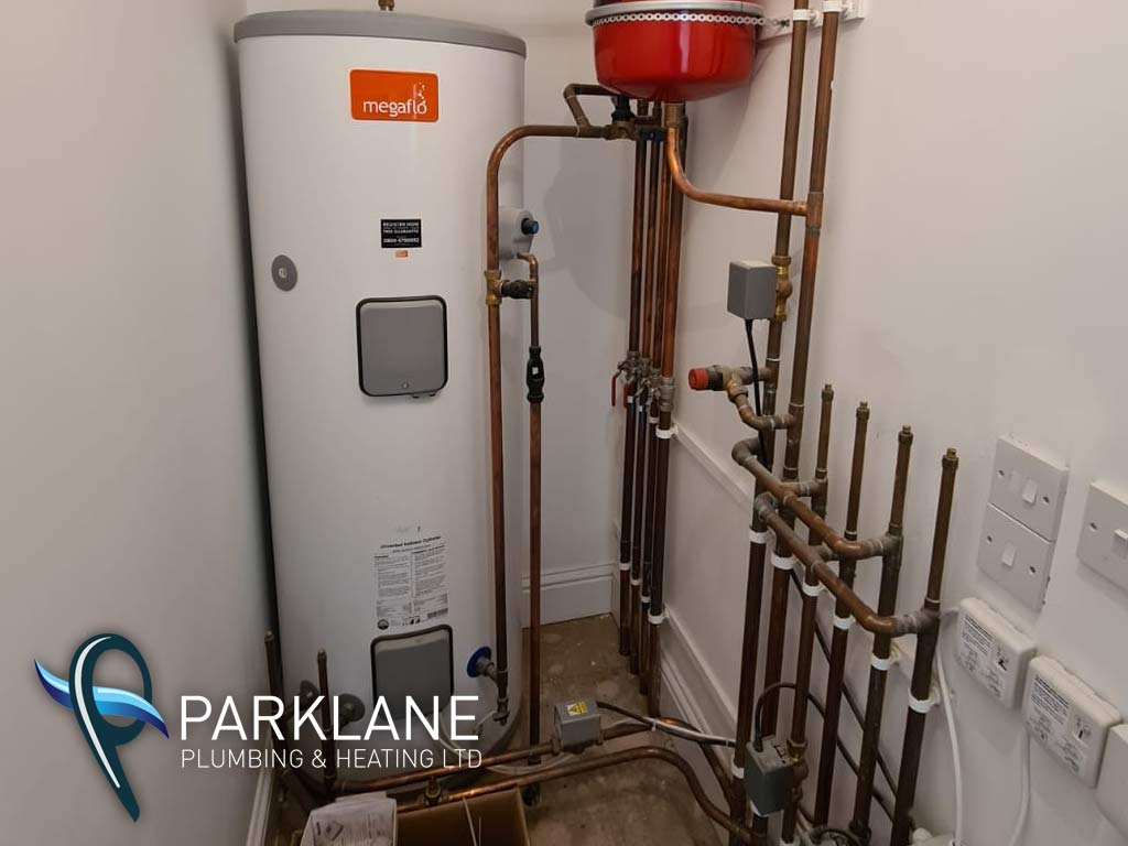 300liter cylinder install with zoned heating