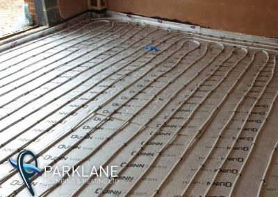 undefloor heating install with various zones.